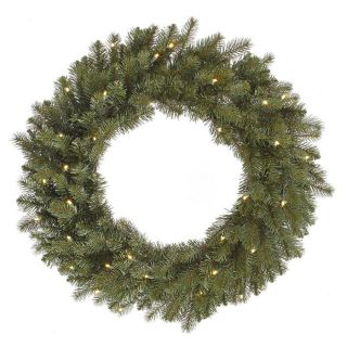 Vickerman 24 in Pre Lit Colorado Spruce Artificial Christmas Wreath with Warm White LED Lights