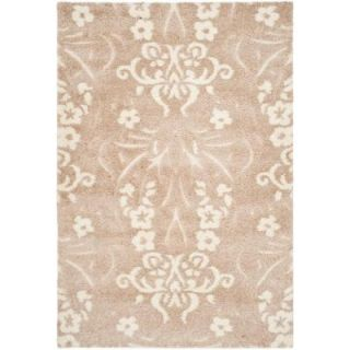 Safavieh Florida Shag Beige/Cream 8 ft. x 10 ft. Area Rug SG457 1311 8