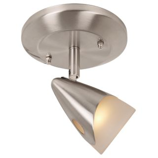 Portfolio Aria 1 Light 5 in Brushed Steel Dimmable Flush Mount Fixed Track Light Kit