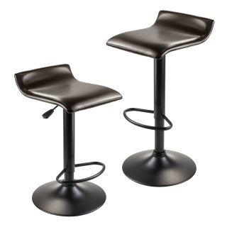 Winsome 93232 Paris Airlift Adjustable Swivel Stool in Espresso Black   Set of 2