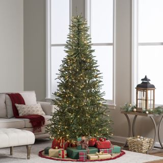 ft. Delicate Pine Slim Pre Lit Christmas Tree   Christmas Trees