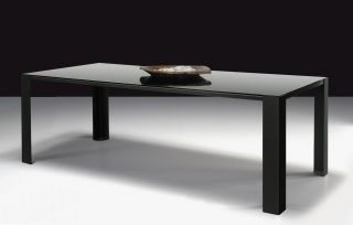 Big Irony Black Glass Table   Black glass table top   L 200 cm Black glass top / bronze mirror by Zeus