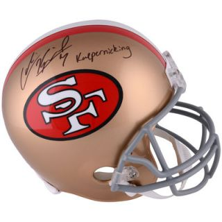 Colin Kaepernick San Francisco 49ers  Authentic Autographed Full Size Replica Helmet with Kaepernicking Inscription