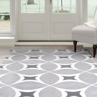 Windsor Home Geometric Area Rug   Grey & White 4x6   17651243