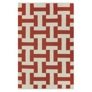 Indo Hand woven Canal Coffee/ Beige Contemporary Geometric Area Rug (6