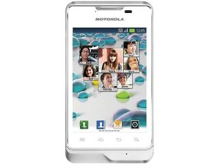 Motorola Motoluxe XT389 Under 1GB White Unlocked GSM Android Cell Phone 3.5""