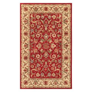 Noble House Harmony Area Rug   Red/Beige   Area Rugs