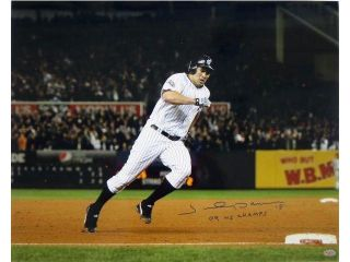 "Johnny Damon Signed New York Yankees 16x20 Inscribed ""09 WS Champs"" SI"