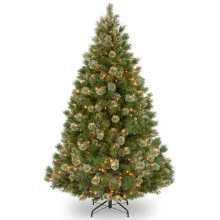 7.5 Foot Wispy Willow Grande Medium Tree with Clear Lights    National Tree Company