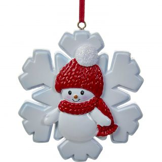 Kurt Adler Snowboy on Snowflake Ornament