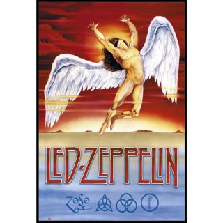 Led Zeppelin Swang Song (24 inch x 36 inch) On a Woodmount   17702676