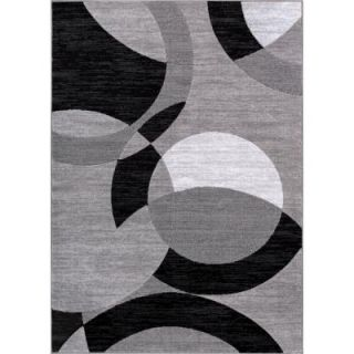 Well Woven Dulcet Bingo Grey 7 ft. 10 in. x 9 ft. 10 in. Geometric Area Rug 19487