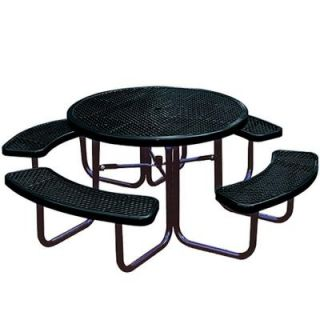 Portable Black Diamond Commercial Park Round Picnic Table LC5250 BLACK
