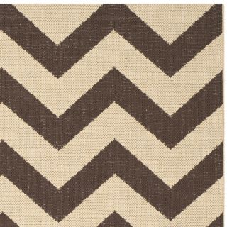 Safavieh Courtyard Dark Brown Outdoor Rug