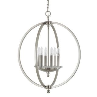 Capital Lighting Perry Collection 6 light Polished Nickel Pendant
